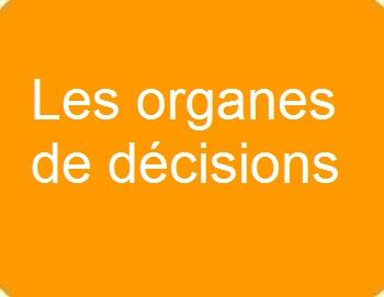 Les organes de décisions