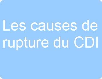Les causes de la rupture du CDI
