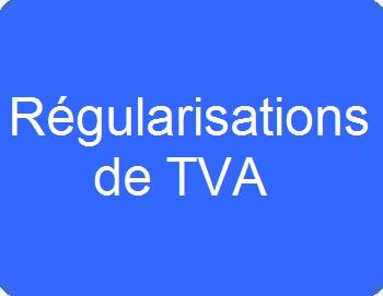 Régularisations de TVA