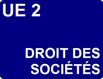UE 2 : Droit des sociétés