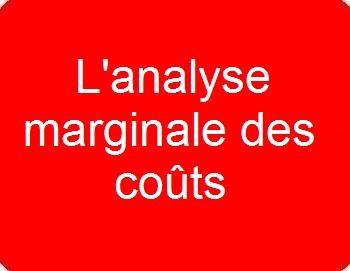 L'analyse marginale des coûts