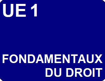 UE 1 : Fondamentaux du droit