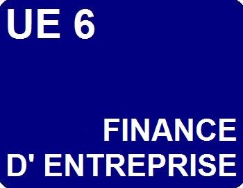 UE 6 : Finance d'entreprise