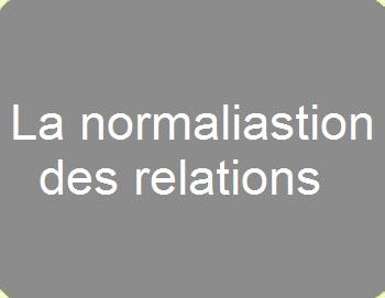 La normalisation des relations